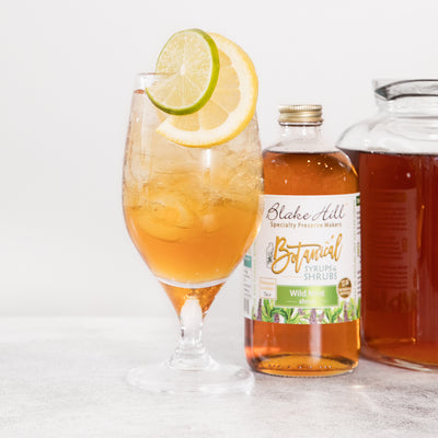 """Sparkling Mint Iced Tea"" Shrub Mocktail"