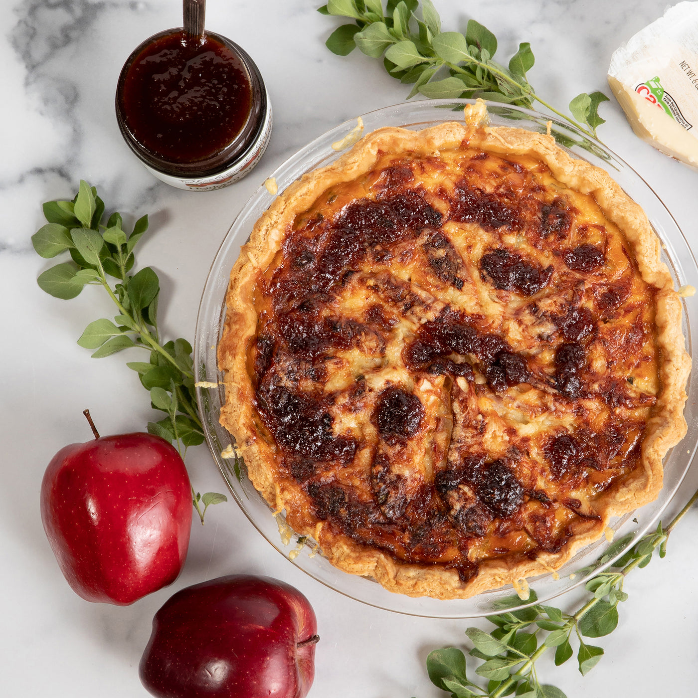 Apple Maple, Onion & Cheddar Quiche