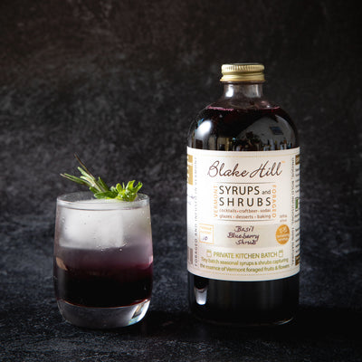 """Moonlight in Vermont"" Basil Blueberry Mocktail"