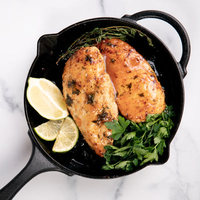 Cast Iron Naked Peach Glazed Chicken