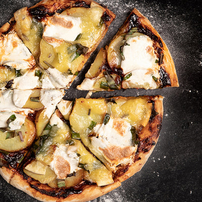 Chipotle Maple Pizza with Wild Ramps & Gouda