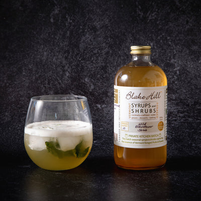 """Botanical Allure"" Elderflower & Green Tea Mocktail"