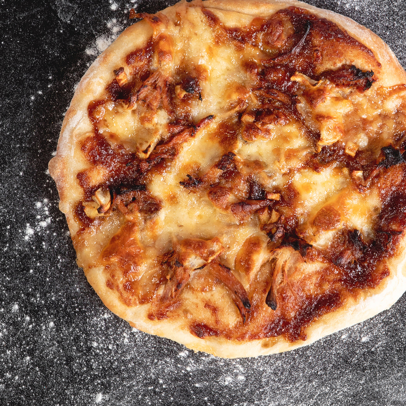 Apple Maple Pizza with Pulled Pork & Parsnips
