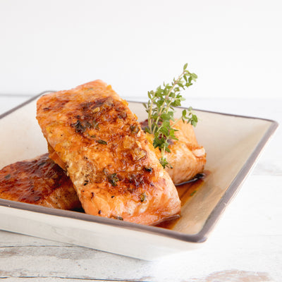 Wild Salmon with Orange Lime Ginger Glaze