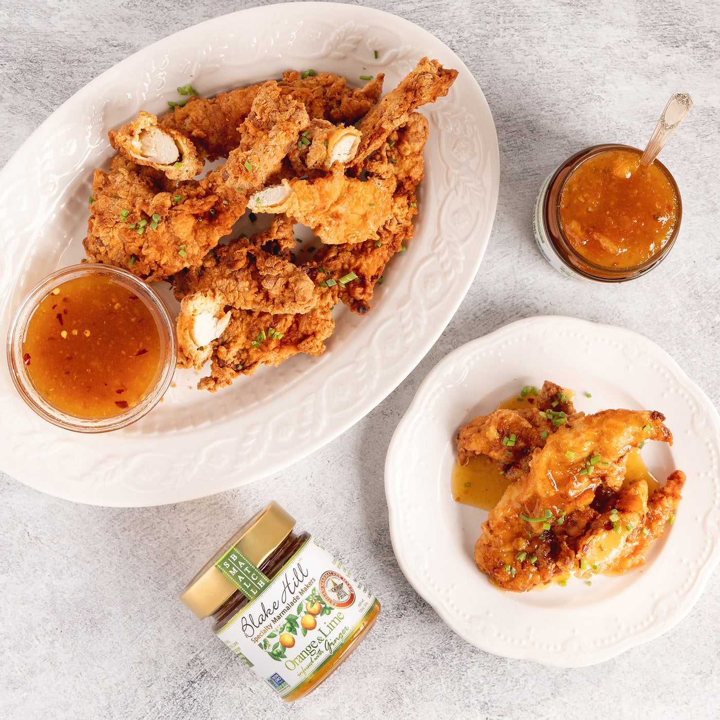 Chicken Tenders with Orange, Lime, Ginger Dipping Sauce