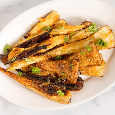 Roast Parsnips with Orange Marmalade Glaze