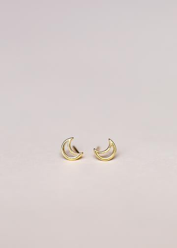 Minimalist Moons Stud Earrings