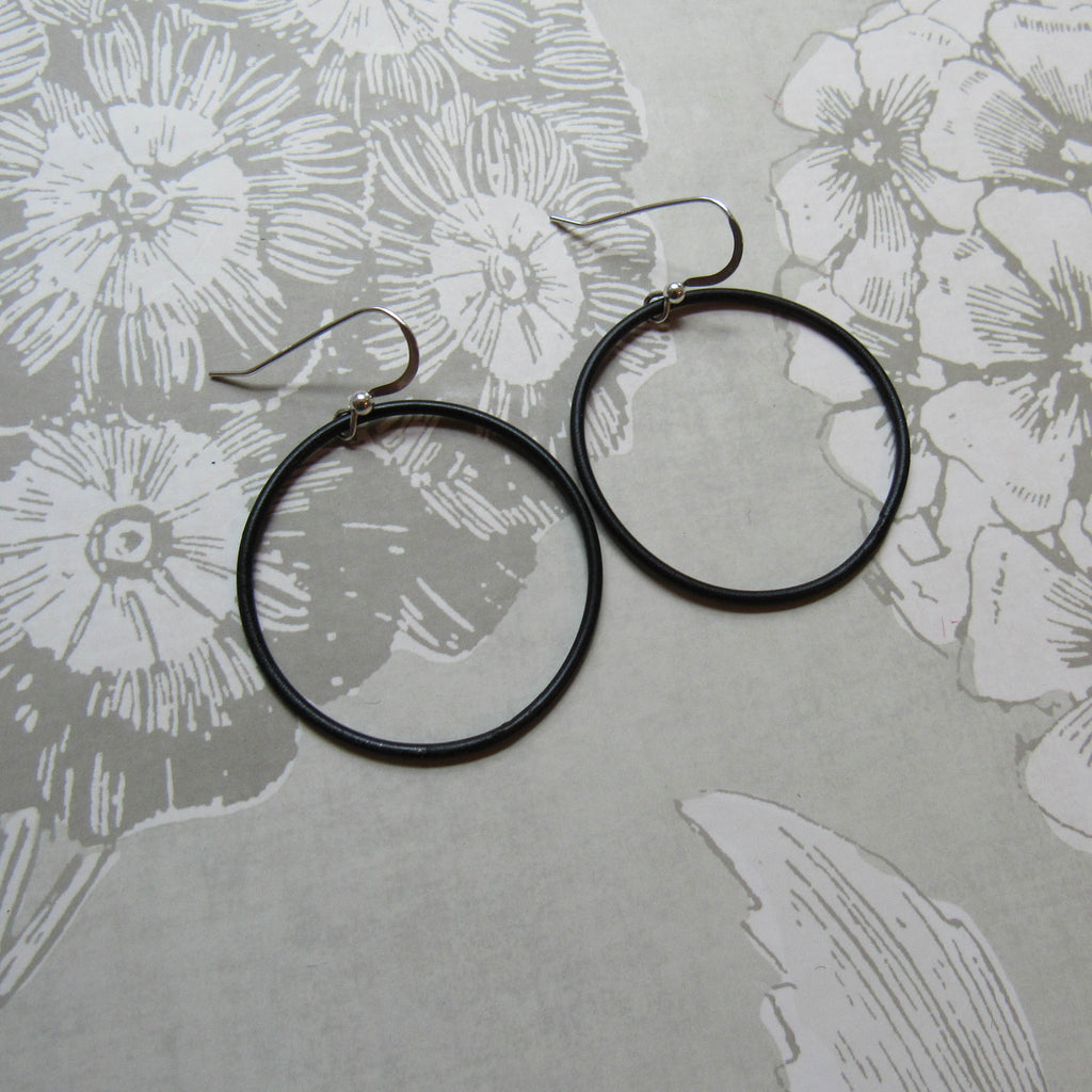 Steel Large Hoop Earrings
