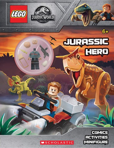 Lego Jusrassic Hero: Activity Book with Minifigure