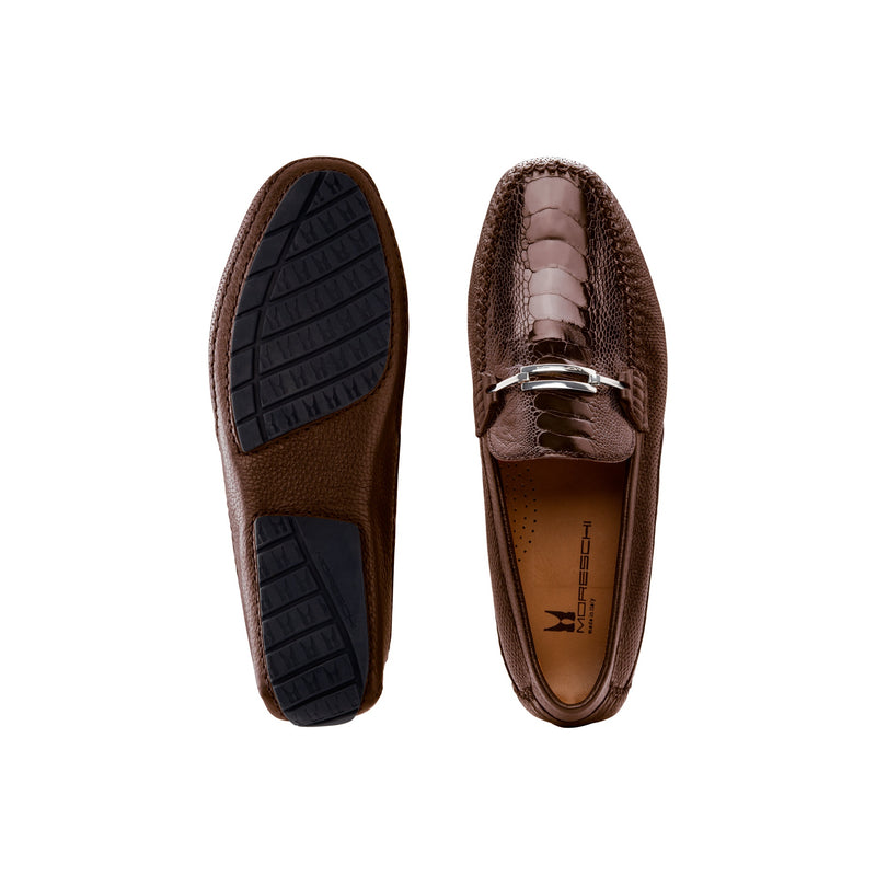 Brown fine leather driver shoes formal italian shoes