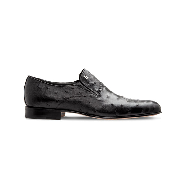 Black Fine leather loafer Luxury italian shoes