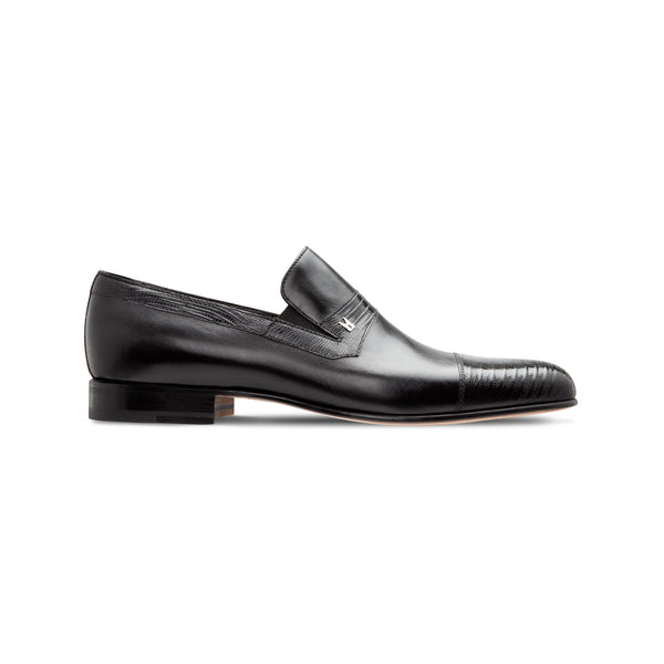 Black Calfskin and fine leather loafer shoes Luxury italian shoes