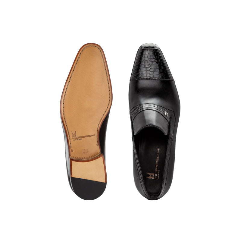 Black Calfskin and fine leather loafer shoes Businessman italian shoes