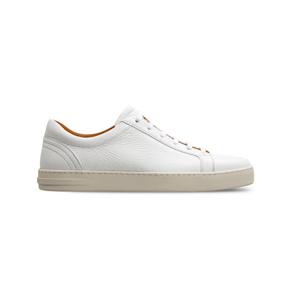 White deerskin sneakers Luxury italian shoes