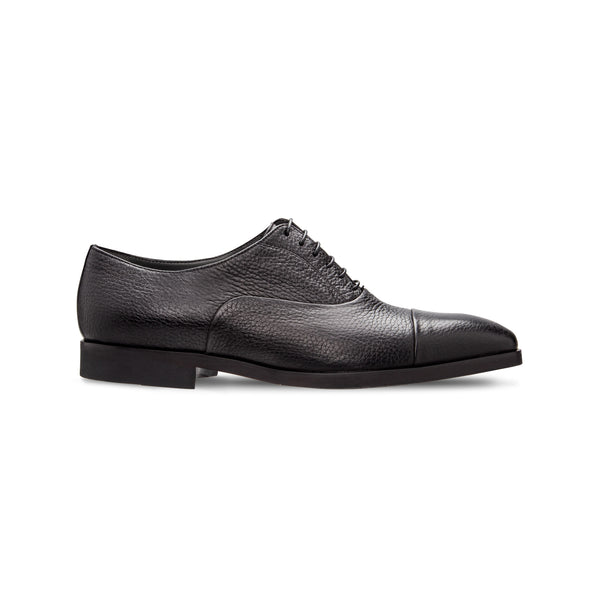 Black Deerskin Oxford shoes