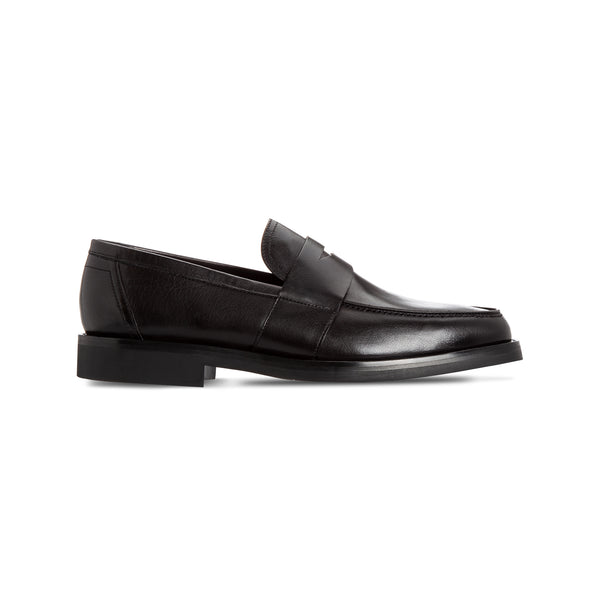 Black buffalo loafer shoes Luxury italian shoes