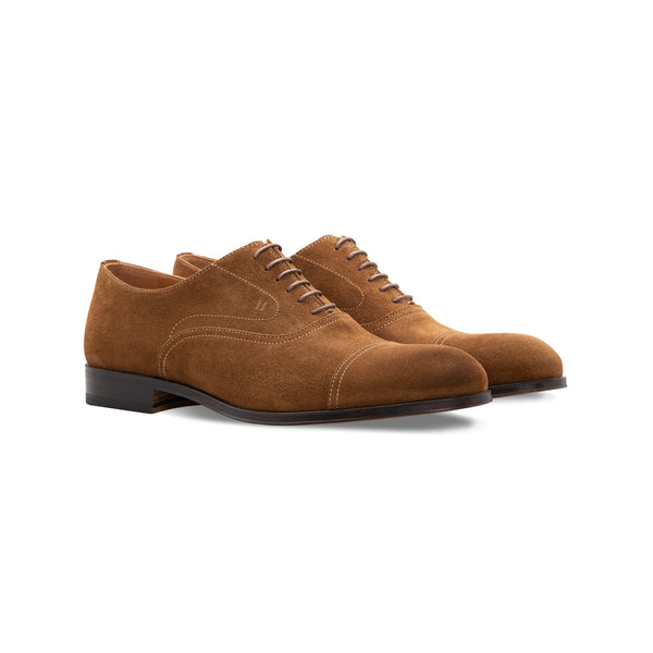 Brown suede Oxford shoes  Handmade italian shoes