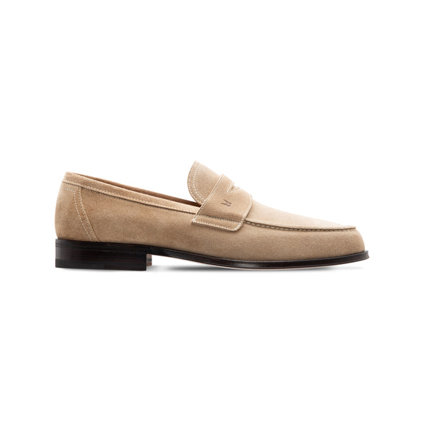 Beige suede loafer Luxury italian shoes