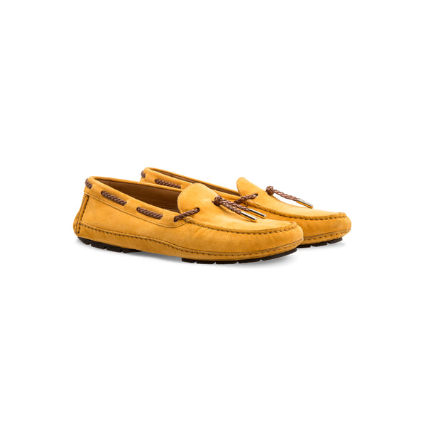 Yellow suede Driver