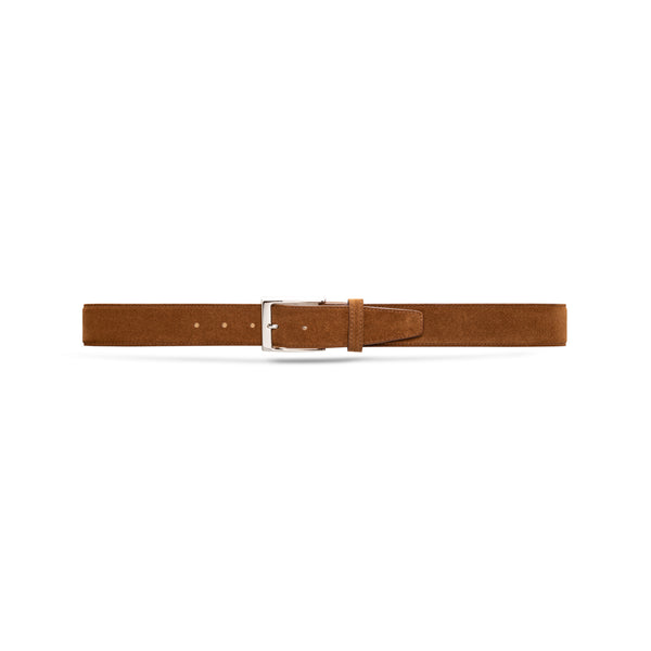 Medium Brown Suede Belt