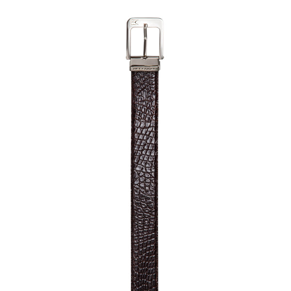 Dark Brown Fine leather belt