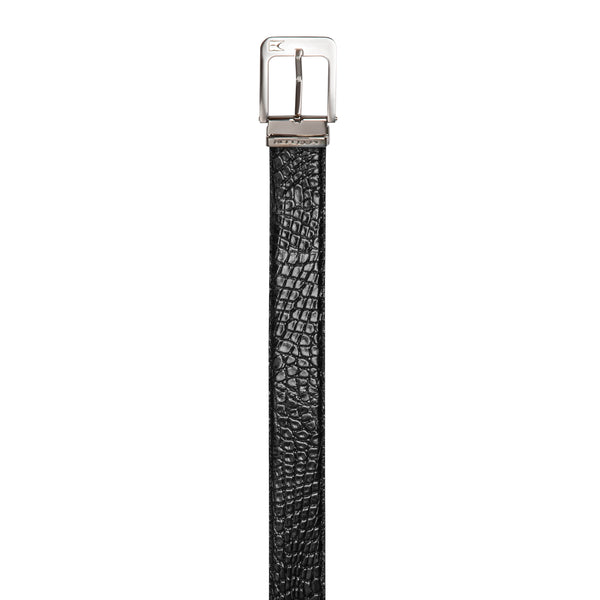 Black Fine leather belt