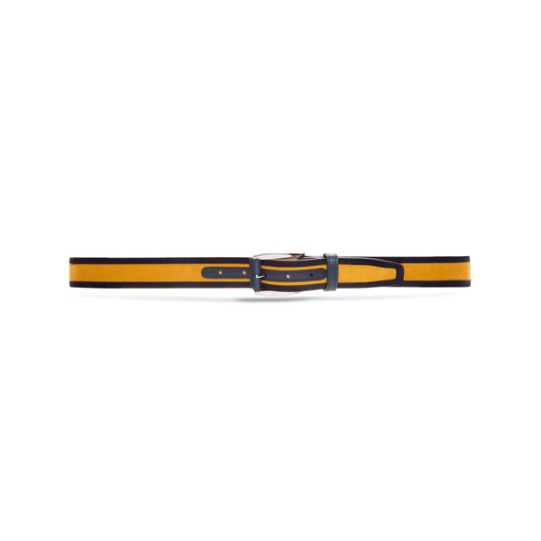 Yellow and Blue leather Belt