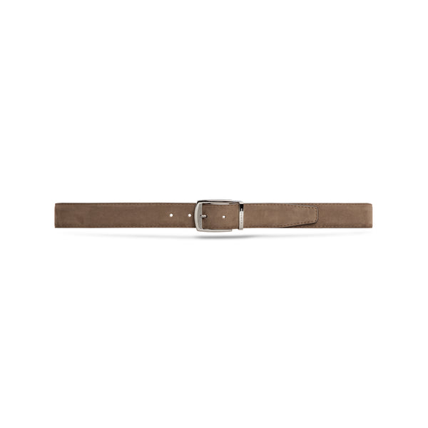 Taupe suede leather belt
