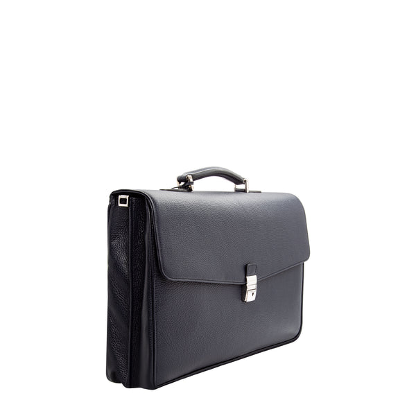 Navy blue leather Briefcase