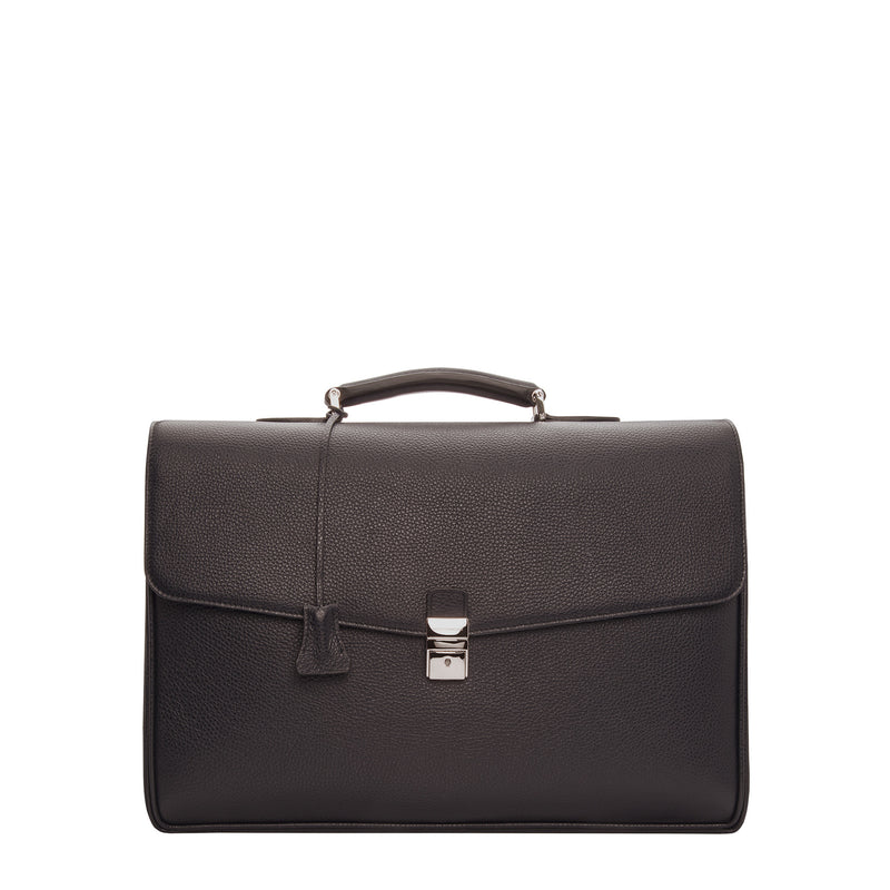 Dark brown leather Briefcase