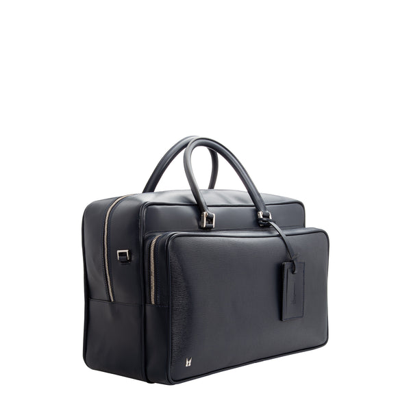 Navy blue leather Suitcase