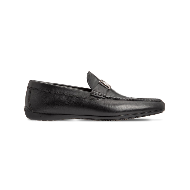 Black calfskin loafer shoes Luxury italian shoes