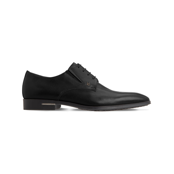 Black calfskin derby shoes Classic handmade shoes