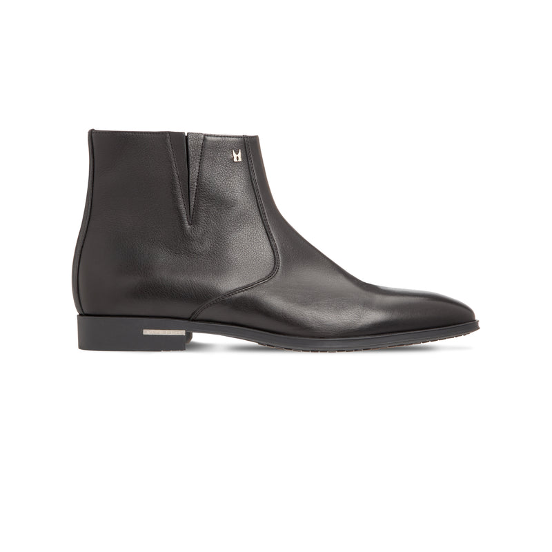 Black calfskin ankle Boots Luxury italian shoes