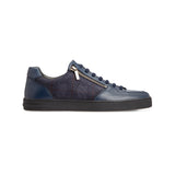 Dark blue calfskin sneakers Luxury italian shoes