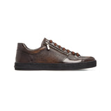 Dark brown calfskin sneakers