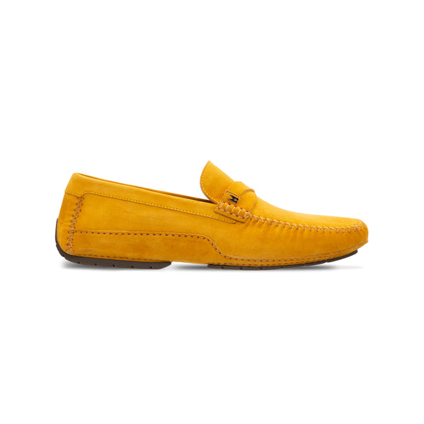Yellow suede driver MoreschiLuxury italian shoes