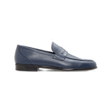 Blue calfskin loafer Moreschi Luxury italian shoes