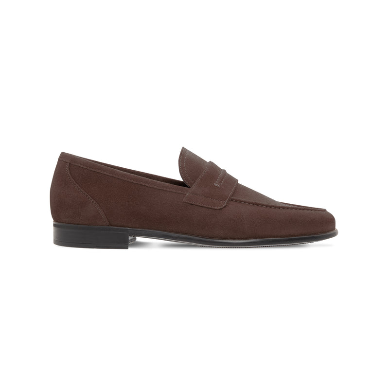 Moreschi Dark brown suede loafer Luxury italian shoes