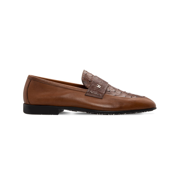 Moreschi Brown fine leather loafer Luxury italian shoes