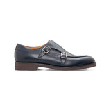 Moreschi Blue antiqued calfskin monk Luxury italian shoes
