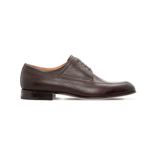 Moreschi Dark brown calfskin derby Luxury italian shoes