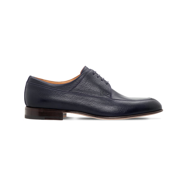 Moreschi Dark blue calfskin derby Luxury italian shoes