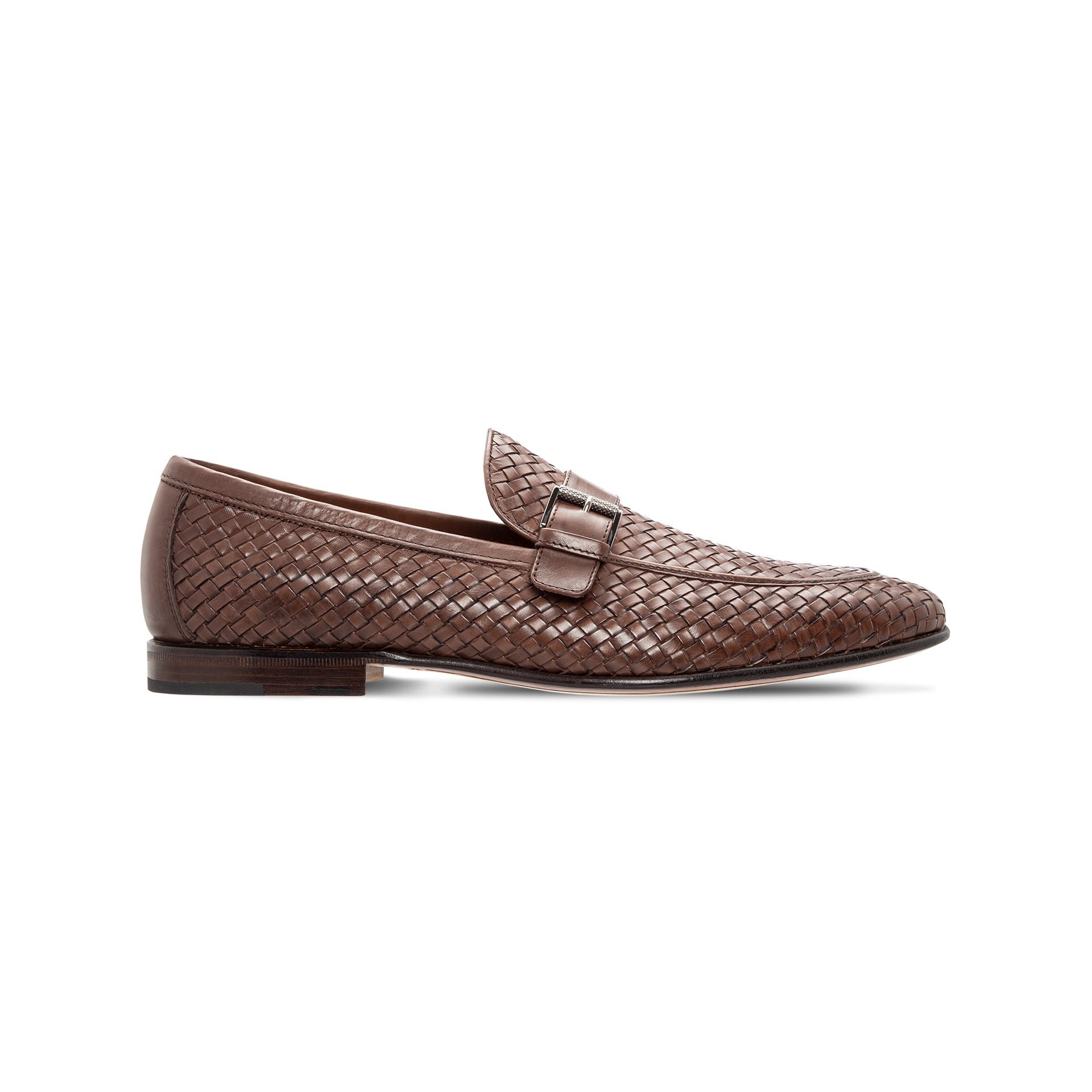 Moreschi Brown woven leather loafer Luxury italian shoes