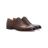 DArk brown calfskin Oxford shoes Luxury italian shoes