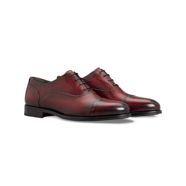 Bordeaux Calfskin Oxford shoes