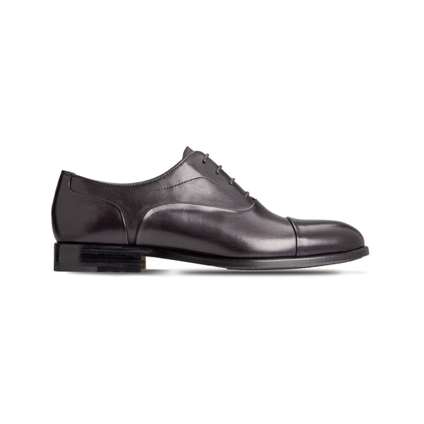 Black Calfskin Oxford shoes Luxury italian shoes