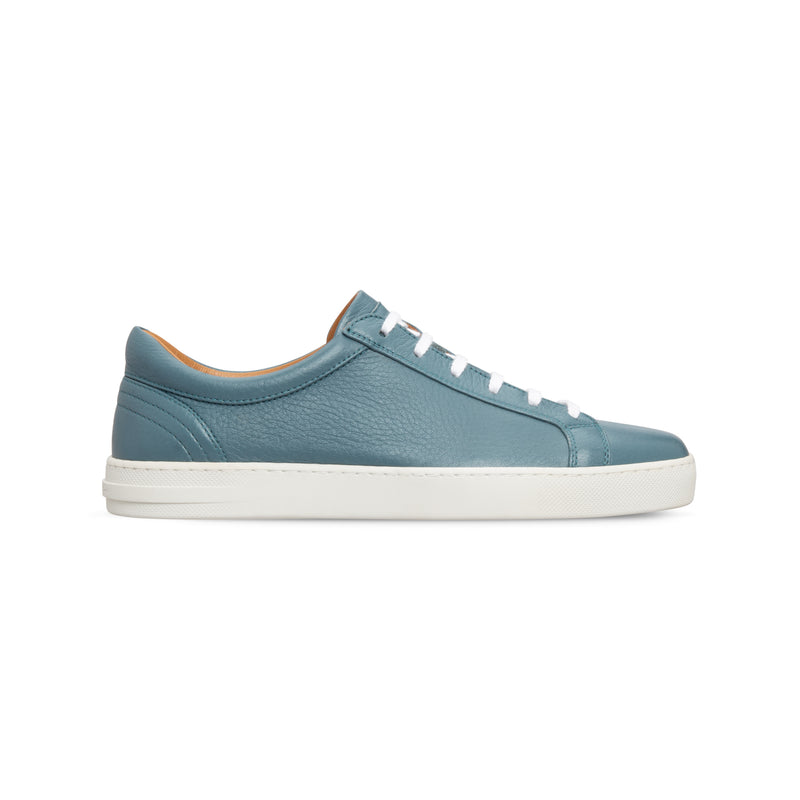 Light blue deerskin sneakers Luxury italian shoes