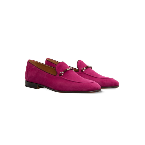 Violet suede loafer