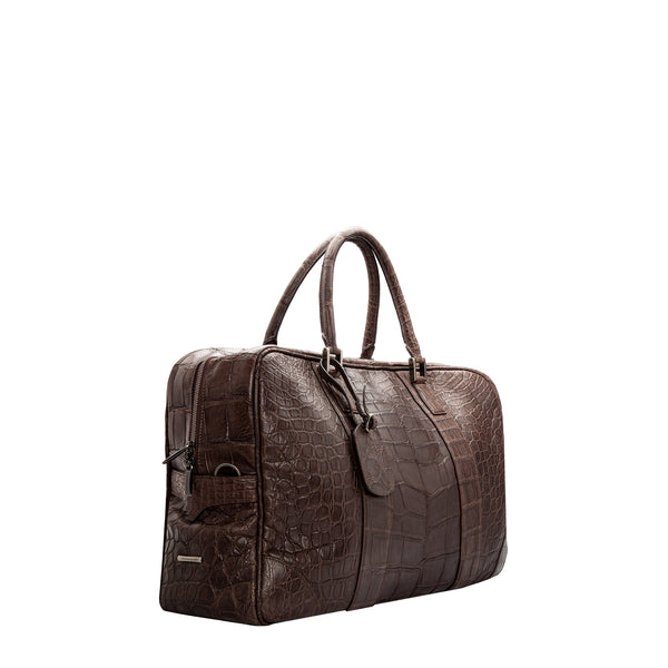 Dark brown crocodile Suitcase
